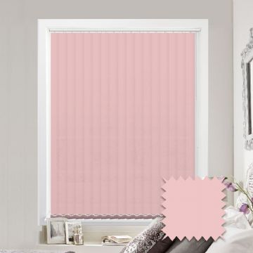 Pink Made to Measure Vertical Blinds in Bermuda Pink